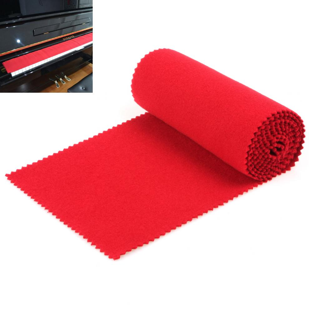 Soft Red Piano Key Cover Keyboard Dust Cover