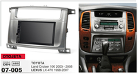 Fit for TOYOTA land cruiser 100 lexus LX 470 quad core android 8.1 frame plus car radio multimedia headunits tape recorder gps