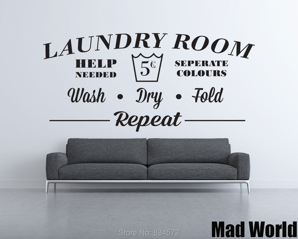 Laundry Room Wash Dry Fold Repeat 57 115w
