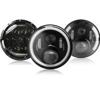 7 Inch Round LED Headlight 7 Projector Headlamp Light For Jeep Wrangler Hummer lada niva 4x4 Suzuki Samurai