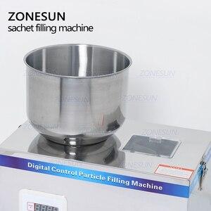 Image 4 - ZONESUN תה מילוי מכונה 1 100g תה במשקל מכונה רפואת תבואה זרעי פירות מלח עצבים מכונת אריזת אבקה מילוי