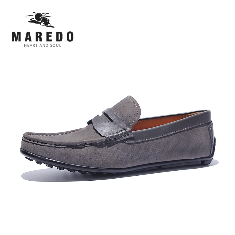 MAREDO summer  men casual shoes men shoes moccasins  loafers Breathable Leather shoes horoz торшер horoz aras hl009l 3w 3000k черный 046 002 0003 hrz00000769