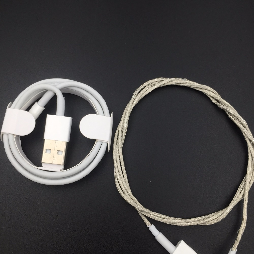 10Pcs/lot,Newest 3.0mm AAAA Quality Metal Braided USB Data Sync Charger Cable For iPad iPhone 8 7 6s 6 plus X,with retail box