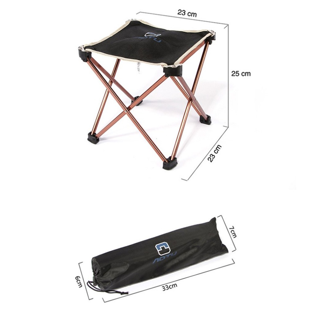 Ultralight 7075 Aluminum Alloy Square Stool Foldable Outdoor Chair Seat Picnic BBQ Garden Chair Stool for Camping Fishing seat oxford cloth lightweight 3 in 1 outdoor portable multifunctional foldable cooler bag chair backpack fishing stool chair