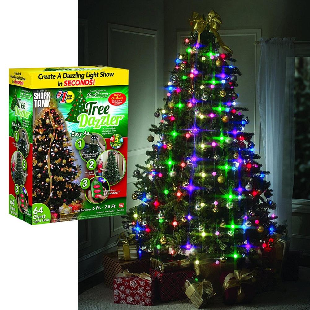 LumiParty Exquisite 64 LED Colourful Christmas Tree String Lights ...