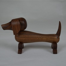 Nordic Denmark Designs ornaments Solid walnut wood with wax oil Doggy Animal Figurines Mascot Puppet Easter kids Gifts