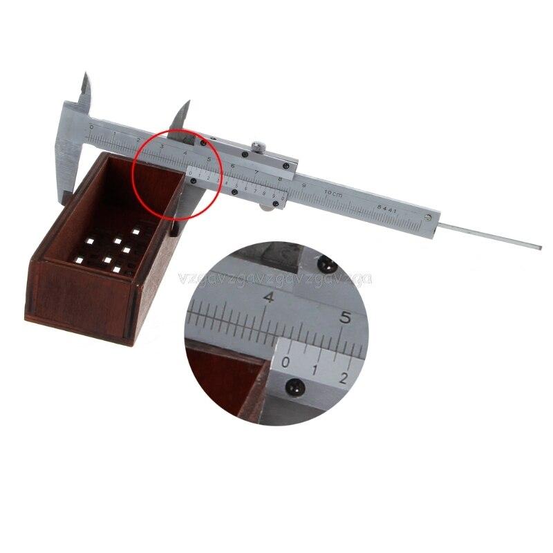 0-100mm 4inch vernier caliper 100mm pocket  mini caliper micometer thickness measure tool N16 dropship