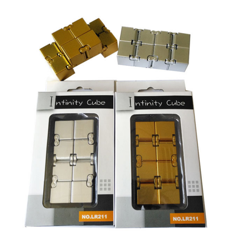 Creative Infinity Cube Magic Square Infinite Flip Decompression Flip Magic Fidget Spinner Hand Finger Cube Toys