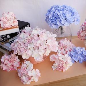 Image 2 - 10pcs/lot Colorful Decorative Flower Head Artificial Silk Hydrangea DIY Home Party Wedding Arch Background Wall Decorative Flowe