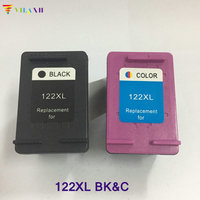 2PK 122 XL Black Tri Color Refilled Ink Cartridge CB563HE CB564HE For HP122 XL