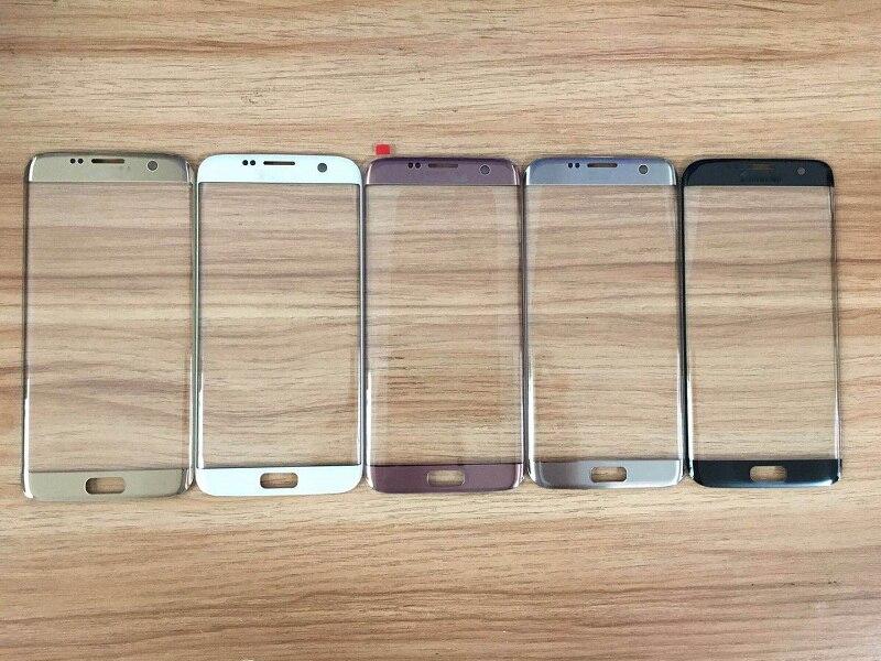 10 pièces D'origine Écran Tactile Lentille En Verre Pour Samsung Galaxy S7 Bord G935 G935F Lentille Extérieure En Verre Bleu Corail Argent