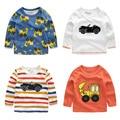 El chico de la gata de algodón camisa de manga larga T-shirt 2017 otoño nuevos niños de los cabritos del bebé chaqueta U5831