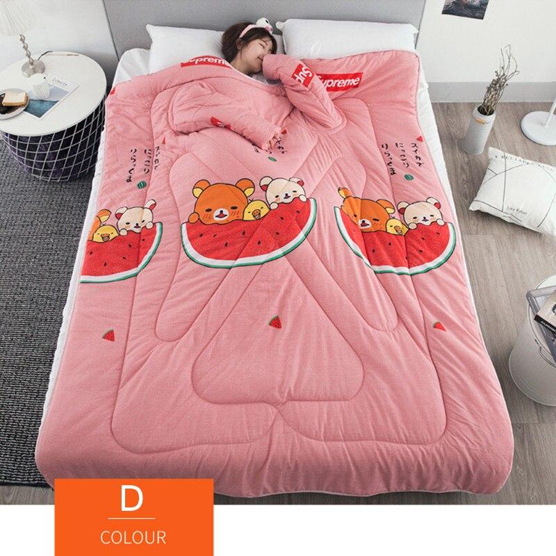 Nouvellement paresseux couette avec manches couverture Cape Cape Cape sieste couverture dortoir manteau 150x200cm MK