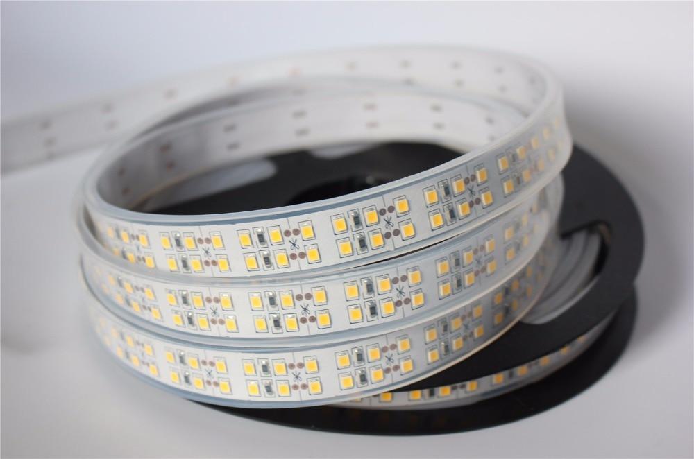 Double row DC12V 2835 LED Strip light 240 LEDs /m String Ribbon Rope Tape for Decorat More Brighter than 3528 white / Warm White