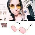 Mujeres Multicolor gafas de Sol Redondas Gafas De Marco De Oro Hippie Shades Lennon Ozzy 60 s 70 s Vintage Steampunk Gafas hombres 030-263