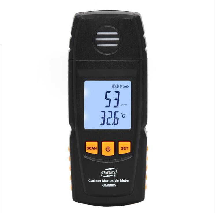 Portable Handheld Carbon Monoxide Meter High Precision CO Gas Detector Analyzer Measuring Range 0-1000ppm detector de gas gm8805 portable handheld carbon monoxide meter high precision co gas detector analyzer measuring range 0 1000ppm detector de gas