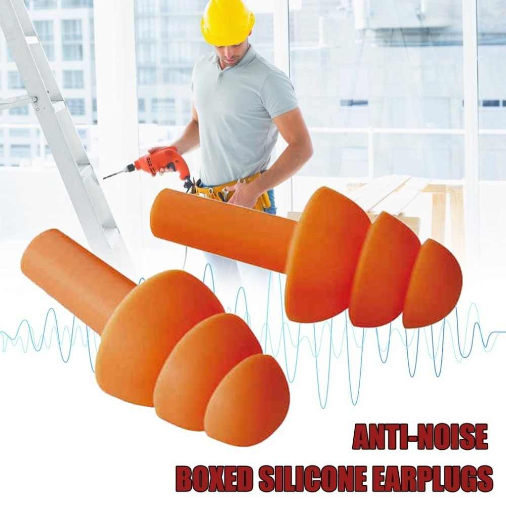 ปลั๊กอุดหูซิลิโคนฉนวนกันความร้อน Ear Earplugs ลดเสียงรบกวน Sleeping ปลั๊กกล่อง