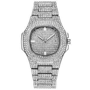 Image 2 - Ijs Out Bling Diamond Horloge Voor Mannen Vrouwen Hip Hop Mens Quartz Horloges Roestvrij Stalen Band Zakelijke Horloge Man unisex Gift