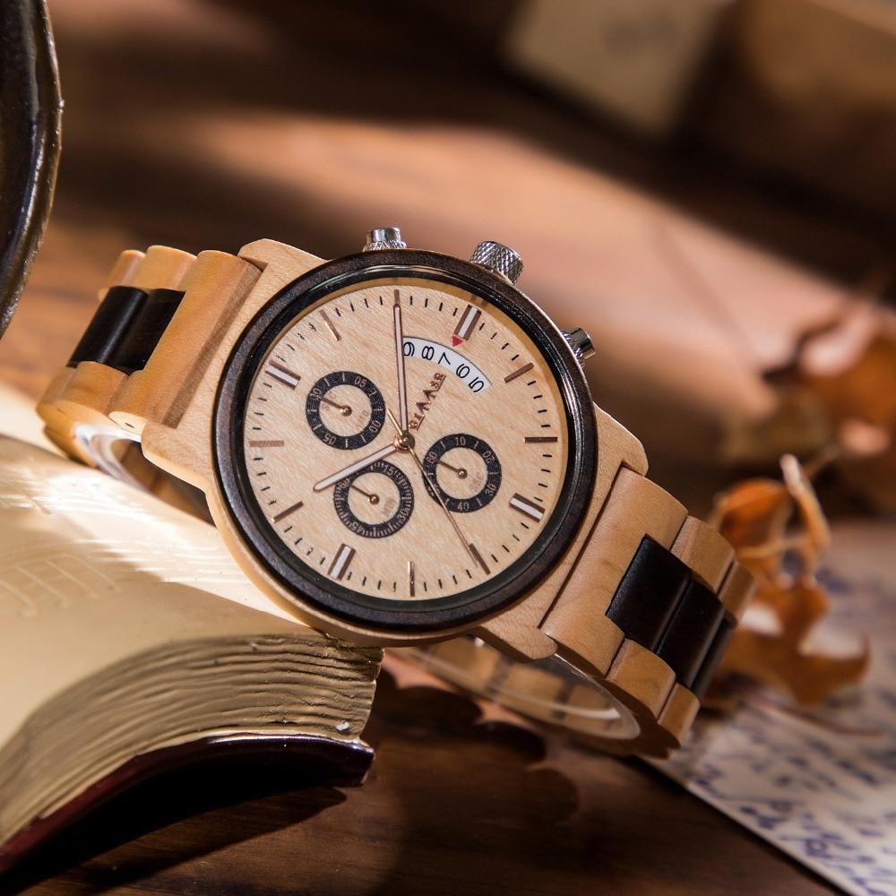 все цены на 2018 New Watches Men Luxury Brand GIMSR Chronograph Men Sports Wood Watches Full Wooden Quartz Men's Watch Relogio Masculino M19 онлайн