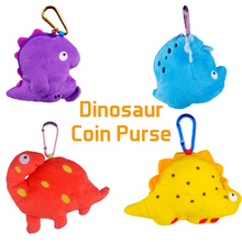 Dinosaur Coin Purse Popular New Coin Bag Mini Key Hook Pouch Cute Wallet Kawaii Cartoon Zip Change Kids Girl Women For Gifts