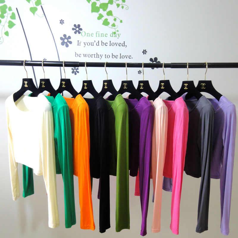 2019 женские трусы мусульманская футболка для женщин Нижняя рубашка Модальная ткань майка Нижнее белье длинный рукав Исламская футболка