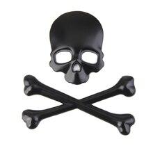 1 шт., 3D наклейка на голову с изображением черепа для автомобиля мотоцикла, эмблема, наклейки для универсального автомобиля/мотоцикла, украшение для тела, самоклеющиеся