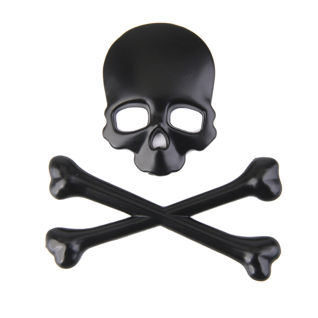 1 Pcs 3D Ghost Skull Head Auto Motorcycle Car Sticker Emblem Decals For Universal Car/Motobike Body Decoration Self adhesive-in Car Stickers from Automobiles & Motorcycles