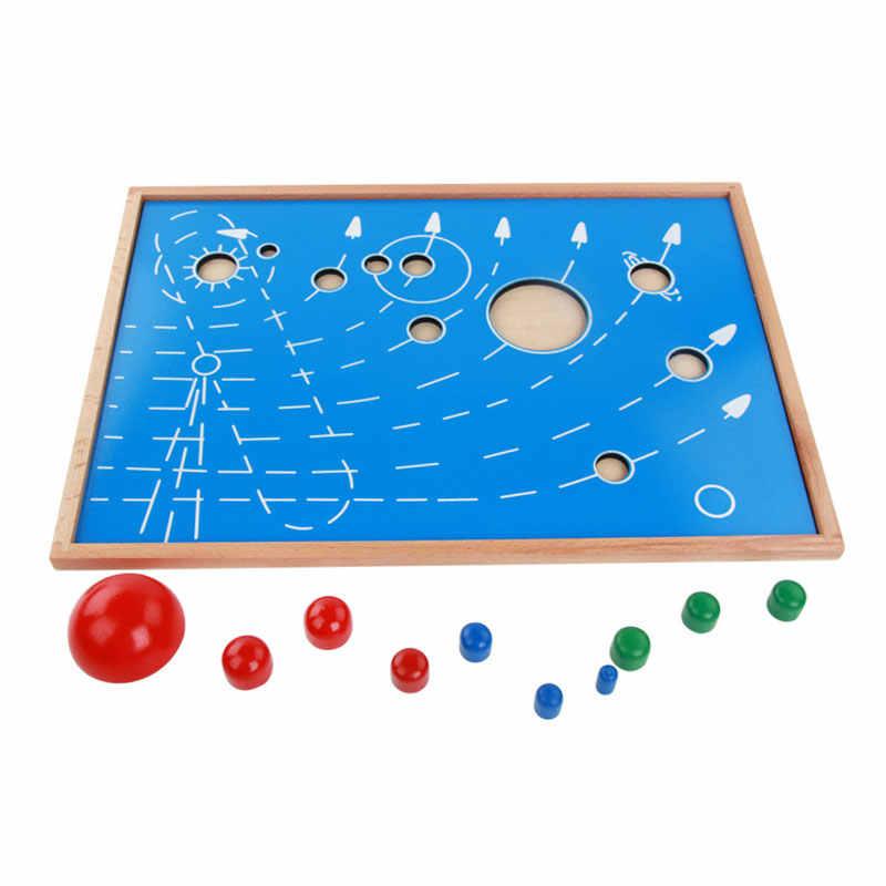 วัสดุmontessori montessoriของเล่นภูมิศาสตร์พลังงานแสงอาทิตย์ระบบ-หมุนดาวเคราะห์วัสดุmontessoriก่อนวัยเรียนของเล่นไม้C246T
