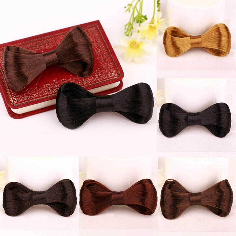1pc Elegant Big Bow Tie Wig Shape Hairpin Hairclips Hairgrip Hair Clip Girl's Exquisite Beautiful Hair Clip Hair Accessories New