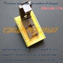 QFN8 WSON8 DFN8 MLF8 adaptateur de programmeur prise de test taille = 5x6 Pitch = 1.27mm