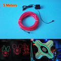 5Meters 5.0mm Flexible 10 color Choice EL Wire LED Strip Neon Glow Light Car Auto Home Party Wedding Decoration+DC-5V USB Driver