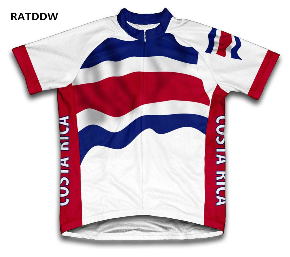 Costa Rica Summer Men Cycling Jersey MTB Short Sleeves Jersey Bike Bicycle Shirts Bike Clothing Ropa Ciclismo