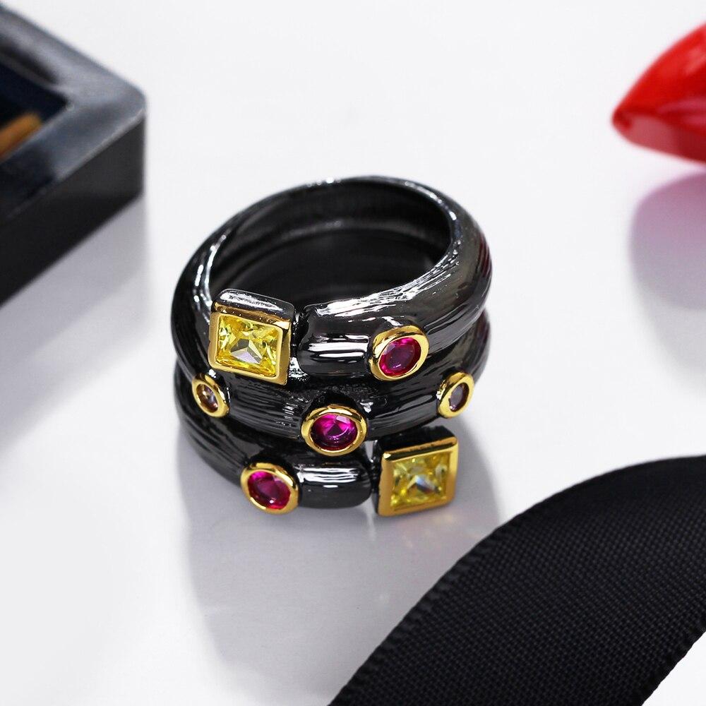 Գերժամանակակից սև օղակներ AAA - Նորաձև զարդեր - Լուսանկար 5