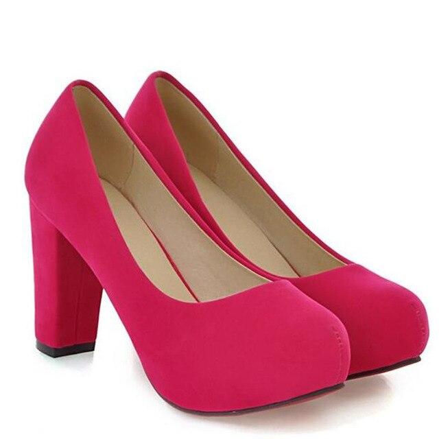 Большой Размер женщин Сексуальные Туфли На Каблуках Насосы Платформы Новая Мода Женщин Свадебные Повседневная Обувь 34-43 дамы Zapatos Mujer