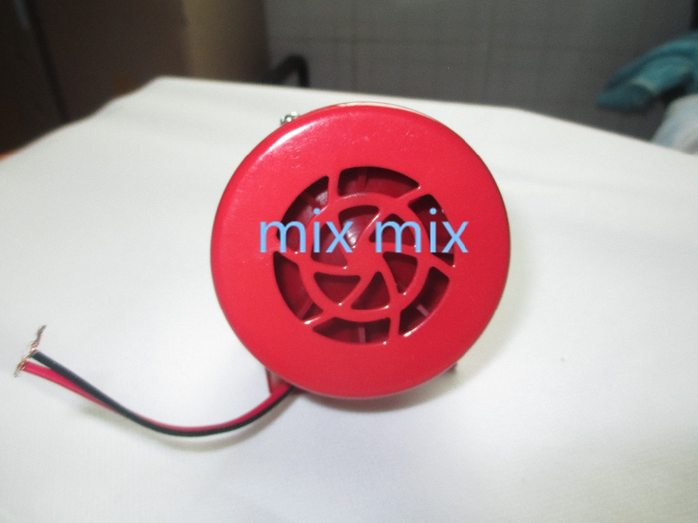 Fixmee 12V Car Truck Driven Air Raid Siren Horn Alarm Loud Sound Fire Security Rescue ac 220v ms 190 automotive air raid siren horn car truck motor driven alarm red universal car horn for pickup truck