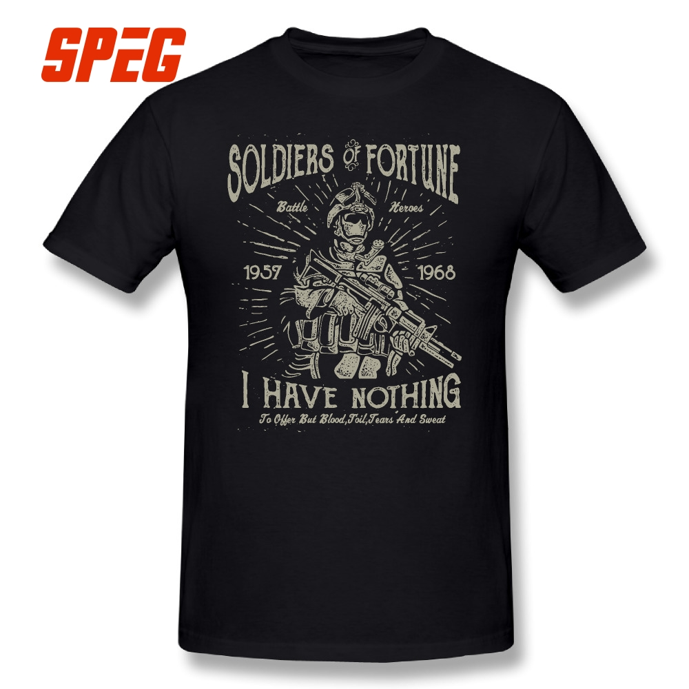 9d90bcbca Detail Feedback Questions about 100% Cotton Tee Shirt Unique Crewneck  Military Soldier Retro Vintage T Shirts Hot Sale Mens Short Sleeve T Shirts  Print on ...