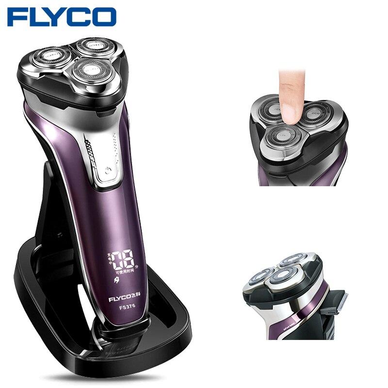 Flyco FS376 Máquina de Barbear Navalha Barbeador Elétrico Homens Barbeador Lavável 1 Uma Hora de Carga Rápida Barbeador Afeitadoras Electricas De Hombre