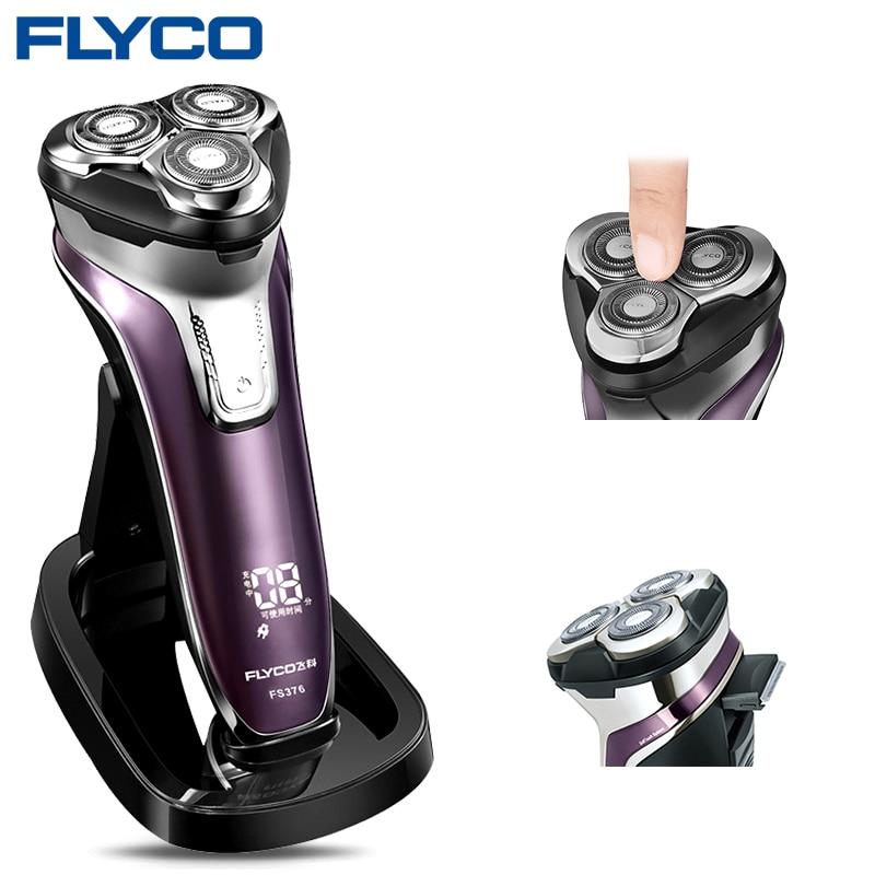 Flyco FS376 Macchina Da Barba Rasoio Rasoio Elettrico Da Uomo Lavabile 1 Ora di Ricarica Rapida Barbeador Afeitadoras Electricas De Hombre