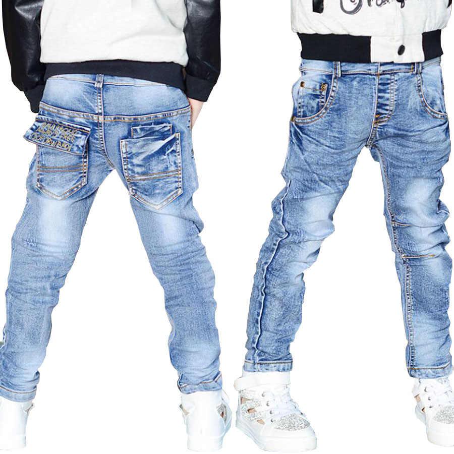 18c8f0791a0d0 Children jeans boys Autumn spring cotton denim trousers baby boys pants kids  casual pants child denim