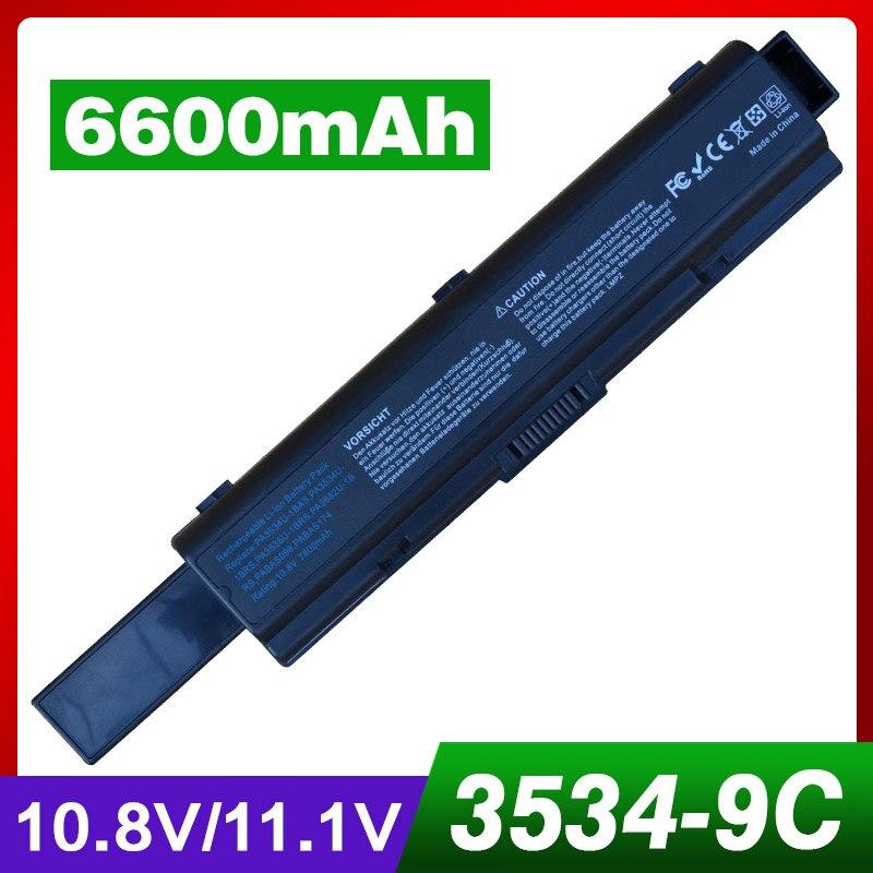 6600mAh laptop battery for TOSHIBA Satellite L505 L505D L550 L550D L555 L555D M200 M205 Pro A200 A210 A300 A300D L300 L300D L350 аккумулятор topon top pa3534h toshiba satellite a200 a210 a300 p n pa3534 pa3535 10 8v 6600mah гарантия 6 мес