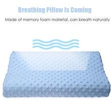 Orthopedic Neck Pillow Fiber Slow Rebound Memory Foam Pillow Cervical Health Care Orthopedic Latex Neck Foam Pillow