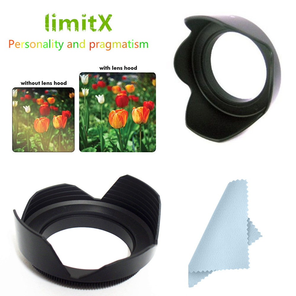 Value-5-Star Lens Hood Cover Shade 49-82mm for Lotus Flower Type Camera Lens Accessory