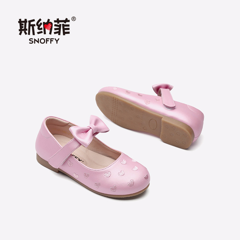 2018 Summer Genuine Leather Children Shoes High Quality Princess Kids Flat Sandals Heart Design Single Shoes For Wedding TX343