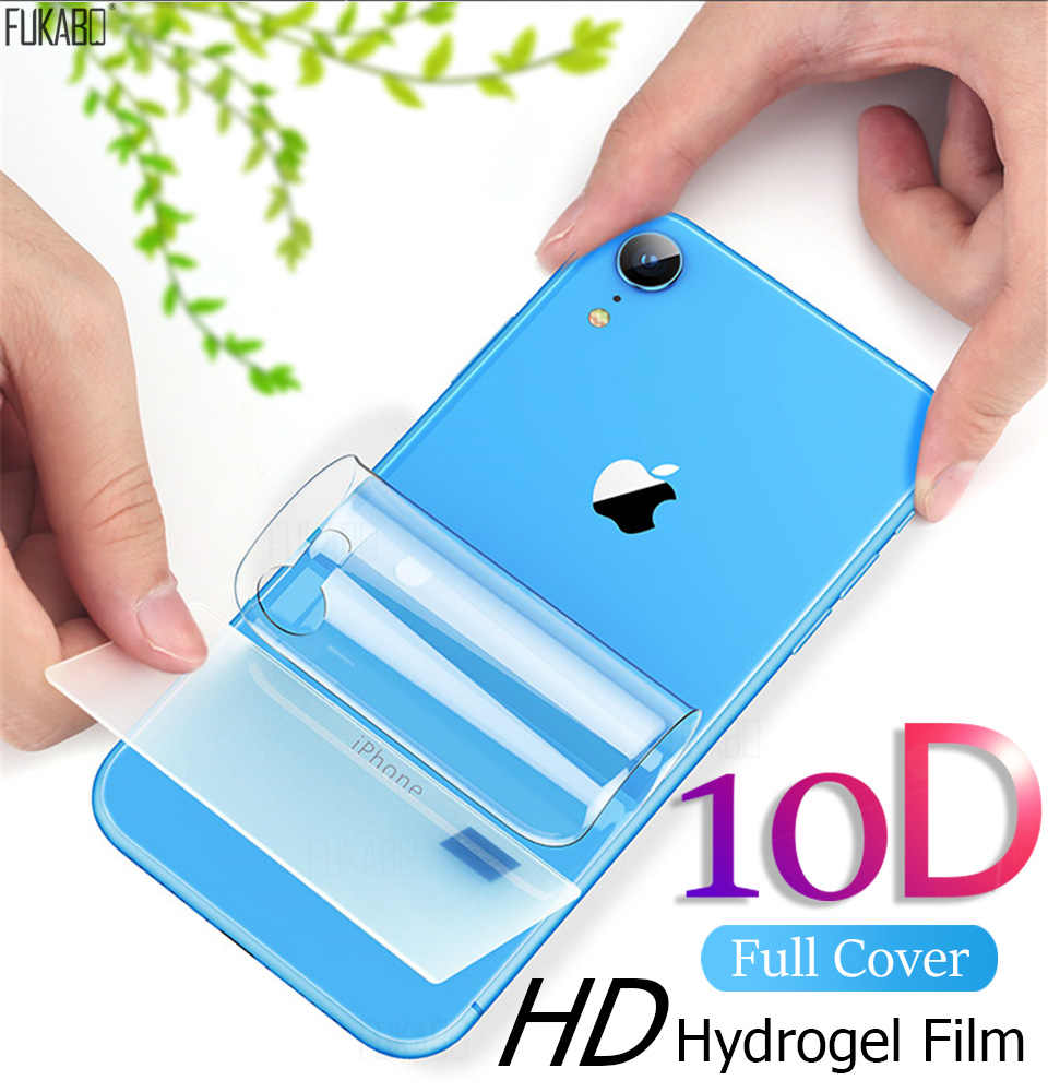 10D ochronna na ekran hydrożel Film dla iPhone 7 8 Plus 11 Pro XR X XS Max folia ochronna do iPhone 7 6 6s Plus miękka folia