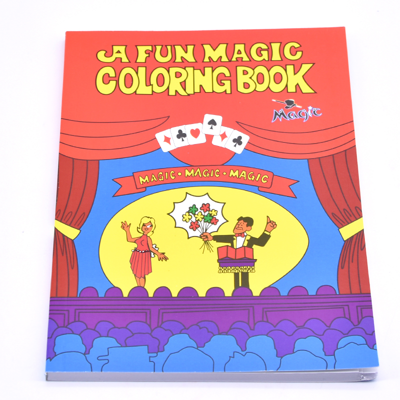 2 89 17 De Reduction Un Livre De Coloriage Magique Amusant Cartes De Tours De Magie De Grande Taille Meilleur Pour Les Enfants Livre De Magie