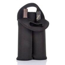 Black Wine Bottles Insulated Travel Carrier Wine Bottle Holder Cooler Bag Carrying Tote Picnic Storage 2 Bottles Wine Bag Covers
