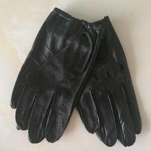 Image 3 - Echte Leer Man Handschoenen Lente Zomer Dunne Ongevoerd Ademend Antislip Locomotief Motorfiets Rijden Handschoenen Mannelijke M023W 1