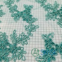 50yards/lot Embroidery Lace Fabric Green Lace Sewing Swiss Trim Wedding Lace Handmade Diy Clothes Accessories DHL Shipping