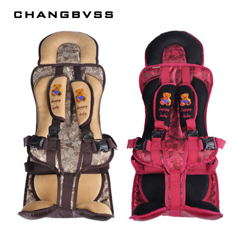 Red and Coffee Color Plus Size Portable Baby Safety Seat for 9-40KG Kids, Children Thickening Sitting Cushion Chair Mat Covers