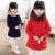 2016 Nueva Otoño Invierno Ropa Infantil Escrito de La Manera Doble de Pecho Abrigo de Lana de Lana Niño prendas de Vestir Exteriores de Las Muchachas Top